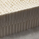 latex rubber mattress - vertical section