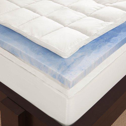 sleep innovations 4inch dual layer gel memory foam mattress topper