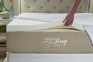 Natures Sleep Cool IQ Memory Foam Mattress Topper