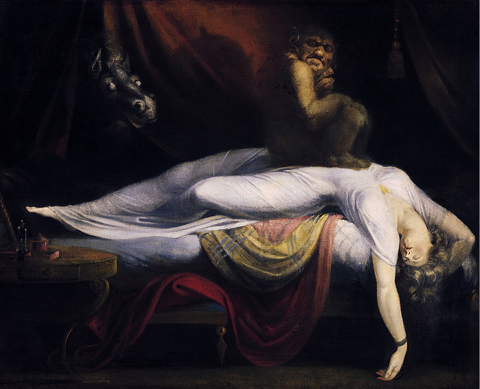 ( Sleep Paralysis - John Henry Fuseli - The Nightmare-1781 - Image Courtesy of en.wikipedia.org )