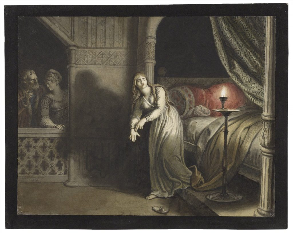 ( Lady Macbeth aroused from sleep and Sleepwalking - Image Courtesy of luna.folger.edu )