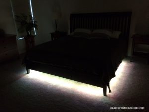 Under bed night light on the Reverie 8Q adjustable bed